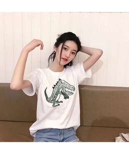 🚚 刺繡恐龍T恤