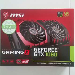 (PM!Cost Price Clear!)MSI GTX 1060 Gaming X 6GB