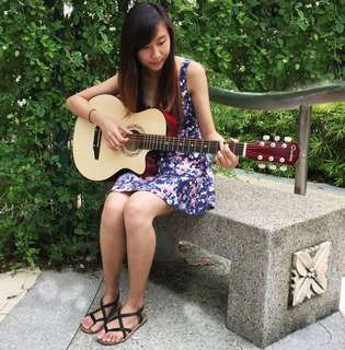 """🚚 Brand New 38"""" Acoustic Guitar ( Natural Wooden )"""