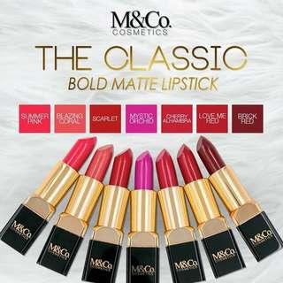 The Classic Bold Matte Lipstick