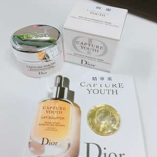 Dior capture youth face cream 面霜 精華素 sample