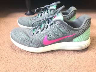 Nike lunarglides size 9 aqua sneakers trainers