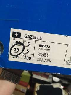 Adidas Gazelle Rosegold/Pink