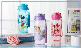 Kids | Children | Toddler Sippy Straw Bottle (Mickey Mouse Minnie Mouse Princess Sofia Avengers)