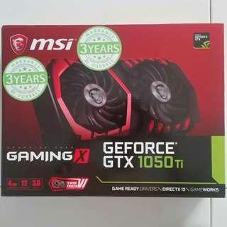 (PM!Cost Price Clear!)MSI GTX 1050Ti Gaming X 4GB