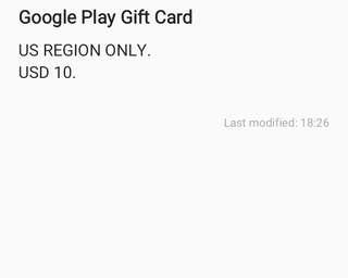 GOOGLE PLAY GIFT CARD USD 10 (US REGION) DIGITAL CODE AND LEGIT!!