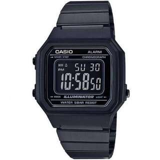 Casio B650WC-5A Black Stainless Steel