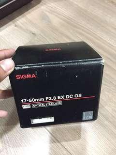 Sigma17-50 f2.8 for canon