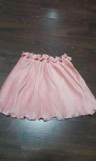Rose Gold Pleated Tube Top
