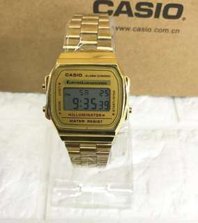 Casio Vintage A168WG-9W Gold Plated Watch