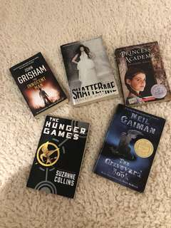 BOOK SALE (hunger games, john grisham, neil gailam graveyard book)