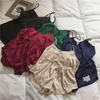💋質感吊帶睡衣套裝 居家服 家居服 五色可選