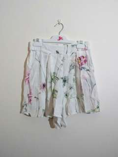 Forever New floral culotte shorts