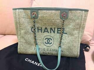 購於荷蘭 湖水綠 特別色 Chanel Tote Bag