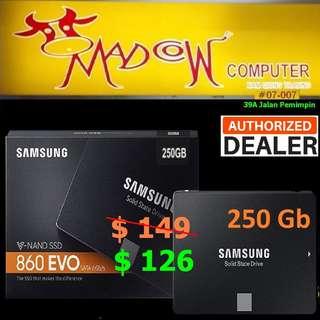"SAMSUNG 860 EVO 250GB 2.5""  ""MZ-76E250BW"""