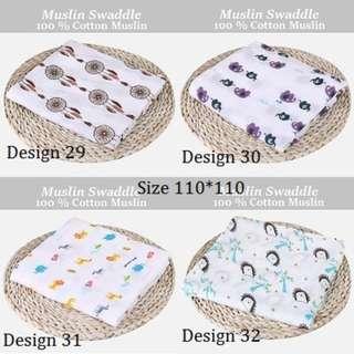 🚚 Baby Muslin Swaddle (Design 29-37)