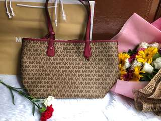 Authentic reversible MK tote bag