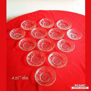 1970s Vintage Glass Sauce Dishes with Good Rims. Unused, Good Condition. Refer to photos for detail and size. 13pcs for $6 Clearance Offer! Sms 96337309 for Fast Deal.