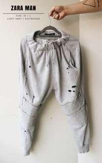 Zara Man Distressed Biker Sweatpants