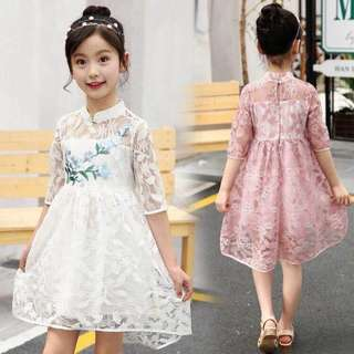 KIDS LACE DRESS 3-7YRS OLD