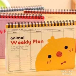 🚚 Animal weekly planner