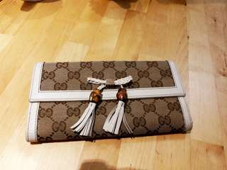 Gucci Wallet 銀包 Canvas Bamboo 清屋清貨