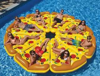 🚚 披薩充氣浮床