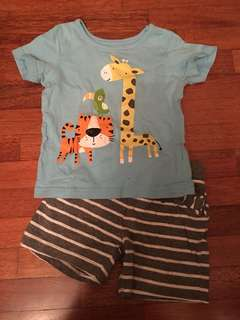 Mothercare short and tshirt set 12-18months
