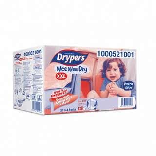 DRYPERS WEE WEE DRY XXL 32x4 PACK (128pcs)