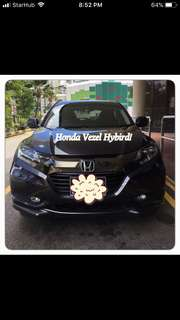 HONDA VEZEL 1.5X HYBRID! Promo Now! Petrol Saver Proven! 18% off petrol Card! Lowest Price! Can Drive For Uber/Grab/Sixtnc! Flexible Rental Scheme! Personal User! Call Now!