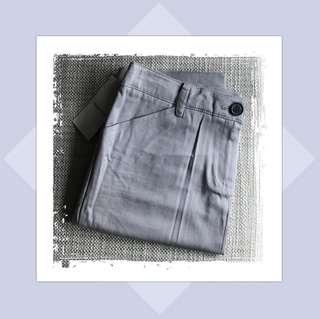 Mango Office Skirt in Gray
