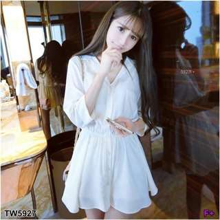 White dress and tank top set ; shop