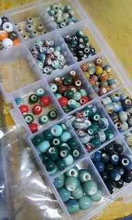 原價$100+ 雜錦 七彩 陶瓷珠 瓷珠 連盒