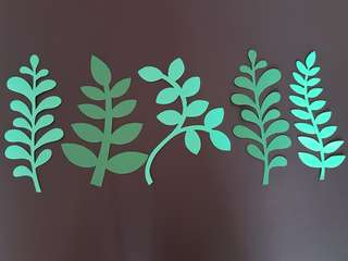 "Handmade big paper leaves (11""long)"