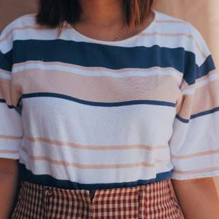 Blue Nude Striped tee