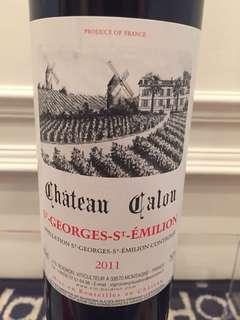 2011 French Wine Chateau Calon Bordeaux Blend Red