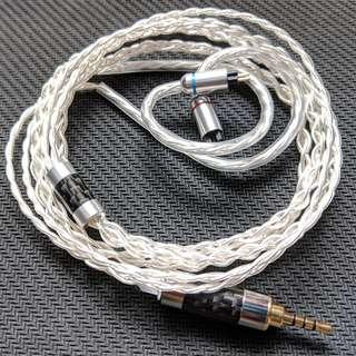德國 7N單晶銅鍍銀線 4絞 CM 0.78 2.5直插