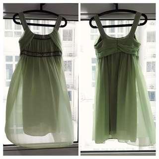 Donna Marmati light Green Dress Free Size