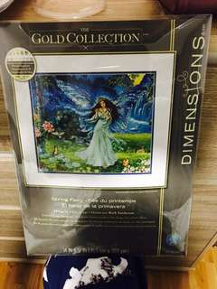 🚚 Dimensions cross stitch kit. Gold collection. Spring fairy