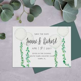 Rustic Eucalyptus Postcard Save the Date Card E-card Digital Print Wedding Engagement Design Service