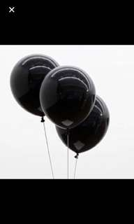 10 inch black latex balloon