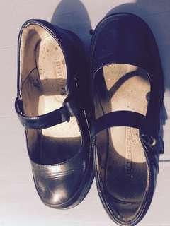 Florsheim Kids Black Leather Shoes