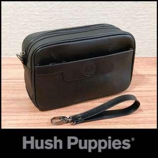 Dompet Hush Puppies 518-1 Black clutch Bag pria super