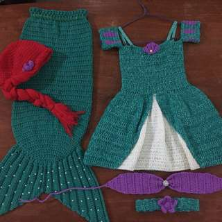 Crochet mermaid costume (SET)