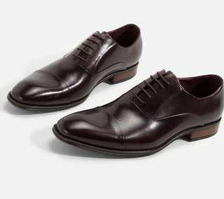 NEW. ! San Diego Captoe Oxford Leather Business Shoes