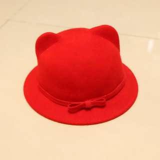 🚚 悶騷紅 貓耳帽