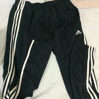 Adidas Trackpants buttoned sideways