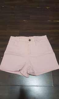 BN Baby Pink High Waist Shorts
