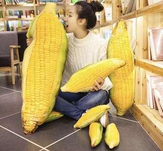 🚚 創意仿真玉米抱枕靠墊靠枕床頭辦公室沙發個性腰靠午休枕頭可拆洗