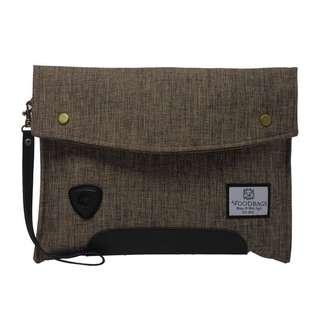 Carbon Clutch Bag Pria Woodbags Tas